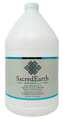 Sacred Earth Botanicals Vegan Massage Lotion, Unscented