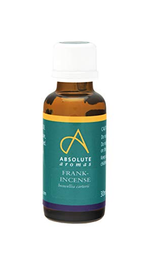 Absolute Aromas Huile Essentielle d'Encens 30 ml - Pure, naturelle, non diluée, sans cruauté et végétalienne- Pour l'aromathérapie, les diffuseurs et les recettes de beauté pour le bricolage