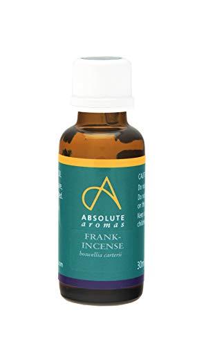 Absolute Aromas Huile essentielle d'encens 30ml - Pure, naturelle, non diluée, sans cruauté et végétalienne- Pour l'aromathérapie, les diffuseurs et les recettes de beauté pour le bricolage