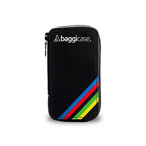 Baggicase S Rojo (14x7,6cm). La Funda Impermeable para el móvil y Las pertenencias del Ciclista. Disponible en Tres Tallas S (14x7,6cm), M (15x7,9cm) y XL (16,3x8,5cm) y 8 Colores.