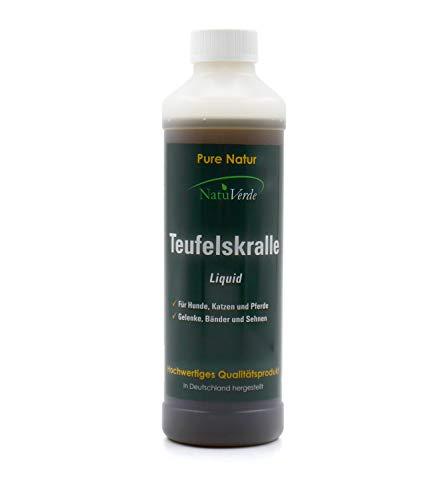 NatuVerde Teufelskralle Liquid, 500 ml, für Hunde, Katzen und Pferde