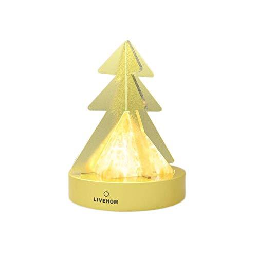 BKKJW lámpara del Himalaya natural tallada a mano iones negativos de la forma del árbol de Navidad de la luz de la noche con alimentación USB interruptor táctil