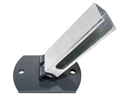Flexi Bodenplatte I RAL 7016 Anthrazit I 60x40x2 Rechteckrohr I Zaunpfosten bis 1230mm Zaunhöhe I Fussplatten Adapter I Pfostenschuh