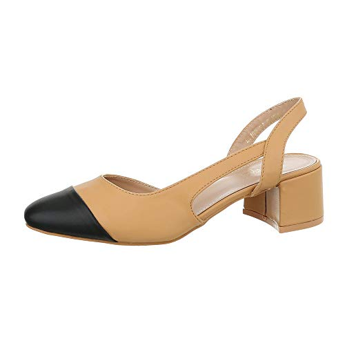 Ital Design Damenschuhe Pumps Schnür- & Riemchenpumps Synthetik Camel Gr. 37