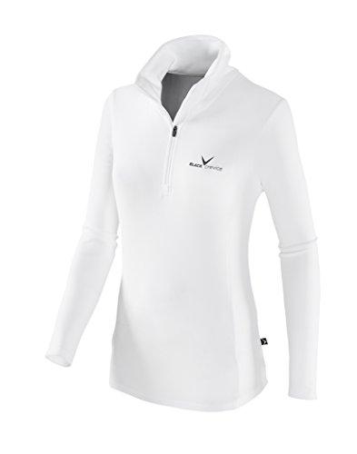 Black Crevice Damen Fleece Skirolli, weiß/schwarz, 38