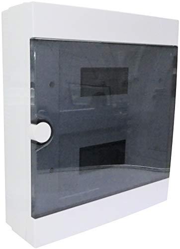 AERZETIX - Quadro elettrico - Pannello di distribuzione/modulare - 340x310.50x100mm - Di parete - Supporto - Fissaggio - 24 Moduli - IP40 - C44892