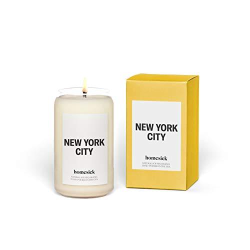 Homesick Scented Candle, New York City - Scents of Lemon, Grapefruit, Jasmine, 13.75 oz