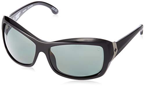 Spy Optic Farrah Sunglasses,Black/Happy Gray/Green Polar,62 mm