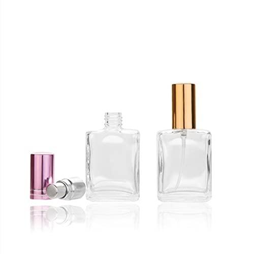 TOSISZ Botella De Vidrio De 10 Ml Botella De Perfume De 15 Ml Botella Prismática Botella De Spray Líquida Cuadrada Plana Sub-Botella Contenedor De Cosméticos-15 Ml De Oro