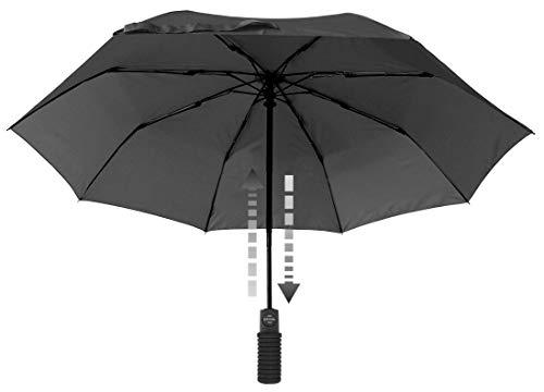 Euroschirm Light Trek Automatic flashlite der Sonnen-, Wander-, Regen- & Trekkingschirm Farbe schwarz