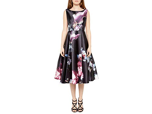 Ted Baker Black Lulae Etheral Poise Cut Out Dress (4 (US 10))