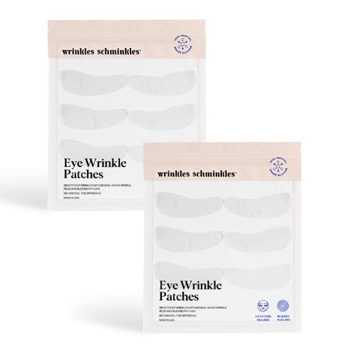 Wrinkles Schminkles 6-Pack Silicone Under Eye Pads - Made in USA - Reusable Anti Wrinkle Patches To Reduce Crows Feet, Puffy Eyes & Dark Circles Under Eyes (6 Pairs)