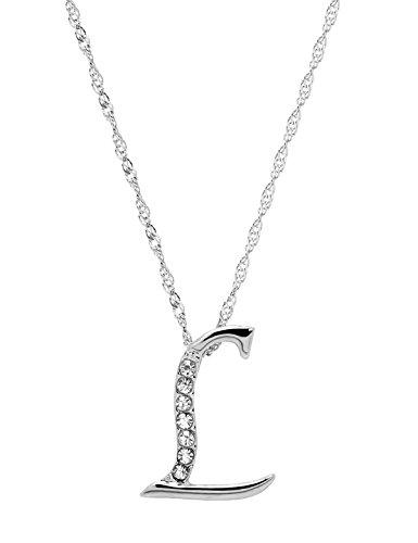 Paialco Jewelry Argento Iniziale Nome Lettera Collana Lunga Catena 50,8cm e Lega, Colore: Silver, cod. JN10304SV0L