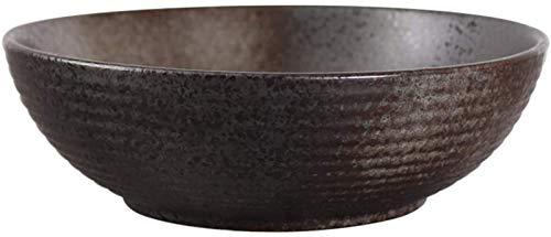 XUEXIU Grande Zuppiera Japanese Cuisine Articoli for La Tavola della Famiglia Ciotola Insalatiera Cereal Bowl per Perfetto Pranzo e casa (Color : Black, Size : 23 * 13 * 7.6CM)