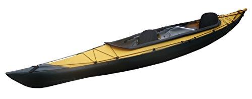 FUJITA CANOE(フジタカヌー) 折りたたみカヌー AL-2-430EYCS イエロー×チャコールグレイ