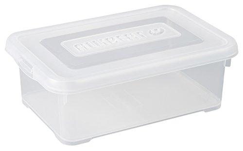 CURVER | Boîte de rangement Handy box 4L avec couvercle, Transparent, 29,4 x 19,4 x 10 cm, Plastique