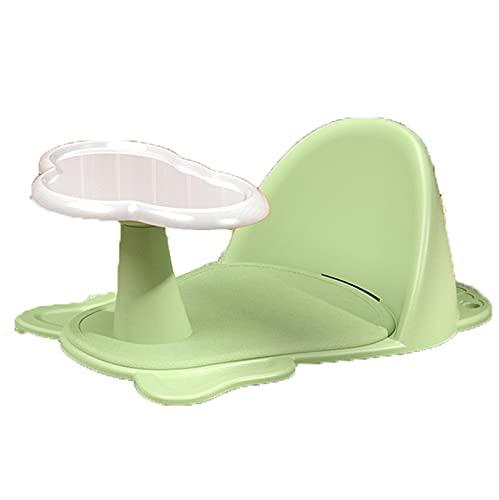 Bebés Asiento De Baño, con Ventosas, Asiento De Baño para El Interior De La Bañera - para Bebés De 6 A 36 Meses,Verde,One Size