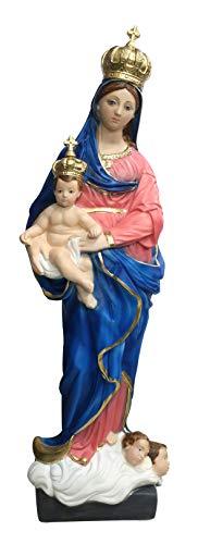 Ferrari & Arrighetti Imagen de Nuestra Señora de Las Gracias de Yeso Pintada a Mano - 65 cm