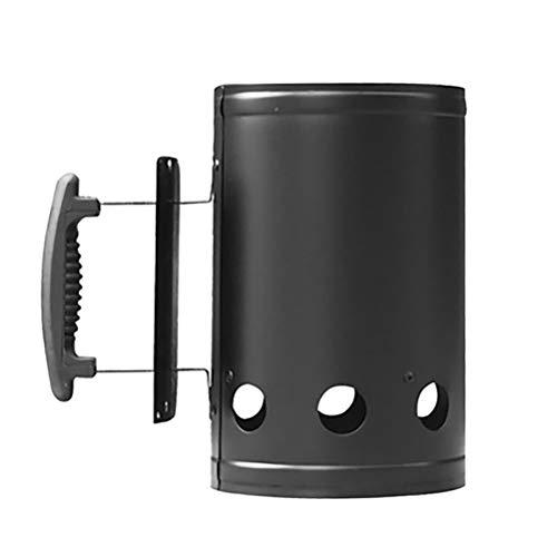HEITIGN Chimney Starter, Barbecue Fire Starter Outdoor Cooking Charcoal Barrel, BBQ Fire Bucket Charcoal Bucket Chimney Charcoal Starter Lighting Kit Coal Burner, 27.5 16.5CM