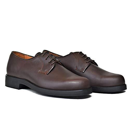 Botasvalverde - 705 - Zapato Blucher Box - Color : Marrón - Talla : 36