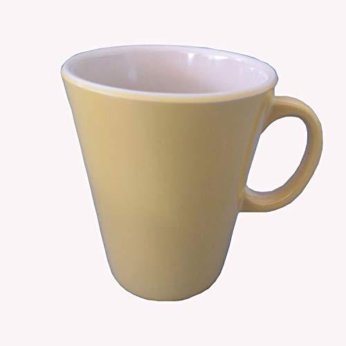 [[[[[hogar Bicolor De La Taza De Consumición De La Taza De Café Del Color De La Vajilla]],null,zh-cn]]] 250ML [[[[[Amarillo y crema]],null,zh-CN]]]