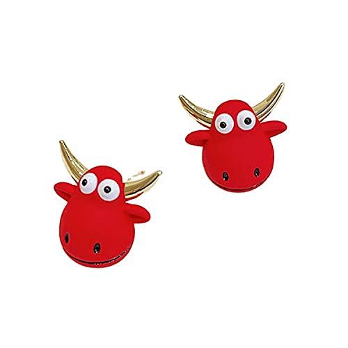 Pendientes Rojo Lindo Diseño De Becerro Sentido Pendientes Simples Y De Moda Accesorios Para Damas