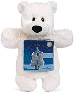 DEMDACO Night You were Born Polar Bear & Storybook Children's Plush Animal Puppet Toy [並行輸入品]