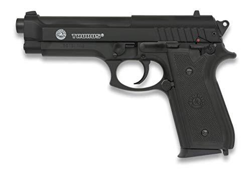 CIBER GUN Pistola Airsoft Taurus PT92 BAX Potencia 0,50 Julios Corredera metálica Airsoft Replica Paintball Caza Supervivencia tactico Senderismo Camping Outdoor 38275 + Portabotellas de regalo