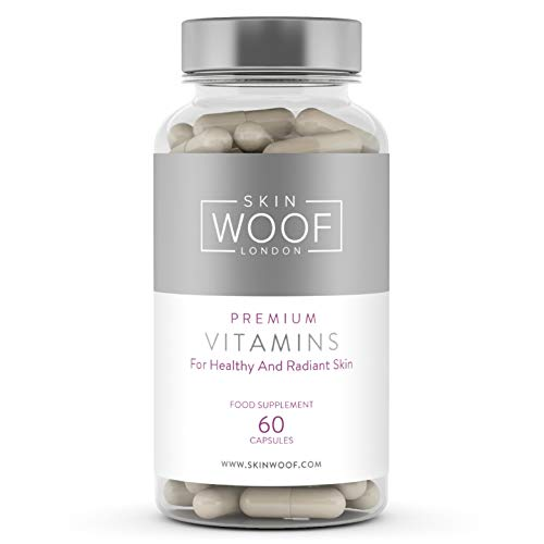 Skin Woof Natural Supplement for Healthy, Radiant and Beautiful Skin | Complete Skin Nutrient Formula Developed with Help of Dermatologists - 60 Capsules