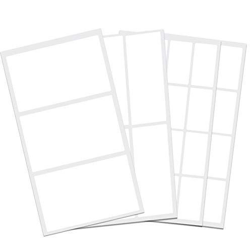 Removable Label Stickers Waterproof Labels Practical File Folder Labels for Food Containers Blank Write on Name/Adress Small Labels Self-Laminating Nametags for Jars Bottles (100PCS)
