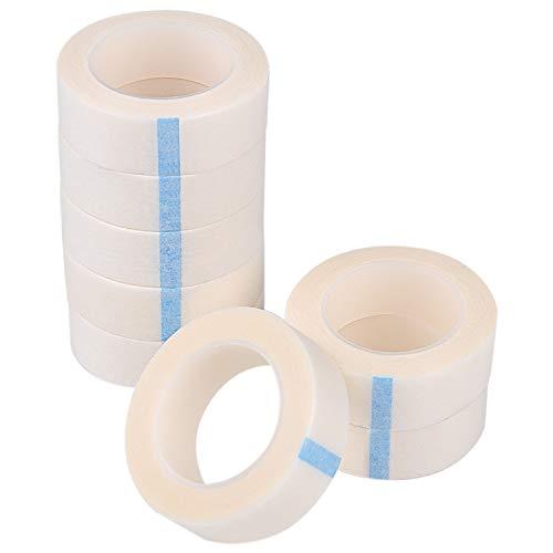 TUPARKA 8 Rollen Weißes Wimpernband, selbstklebende Wimpernbänder, Wimpernband für die Wimpernverlängerung, 9M pro Rolle