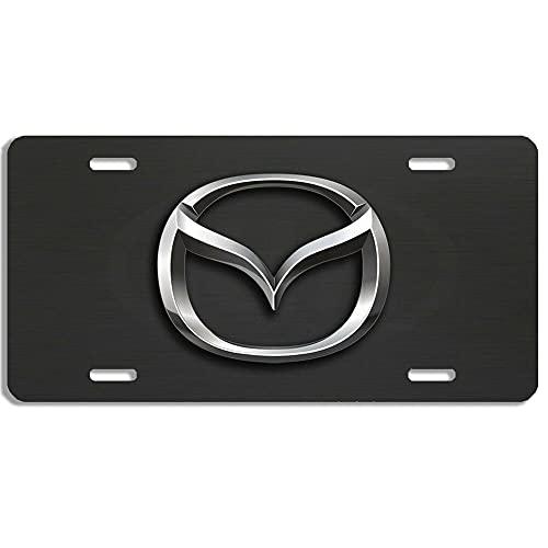 Diuangfoong 1 tapa para marco de matrícula de coche, color negro, 1 unidad, tornillos de acero inoxidable