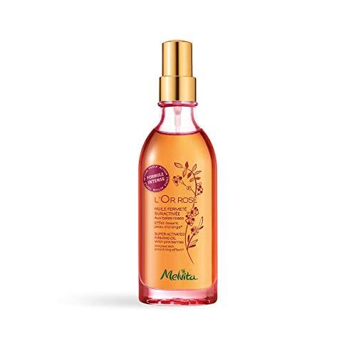 Melvita - Huile Fermeté Suractivée Bio Or Rose - Soin Corps Minceur Raffermissant 100% Naturel, Certifié Bio - Pour une Silhouette Affinée et une Réduction de la Peau d'Orange - Flacon 100 ml
