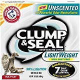 Price comparison product image Arm & Hammer Clump & Seal Lightweight Unscented Clumping Cat Litter,  9 lbs.