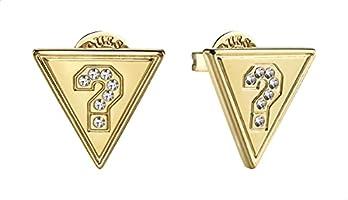 حلق صغير بريمة ستانلس ستيل شكل مثلث مزين بفصوص زركون للنساء من جيس UBE20033 - ذهبي