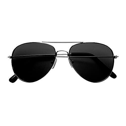 Widmann 6861C - Pilotenbrille, getönte Brillengläser, Kostümaccessoire, Kostümzubehör, Pilot, Flugbegleiter, Karneval, Mottoparty