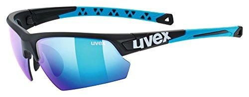 uvex Unisex– Erwachsene, sportstyle 224 Sportbrille, black mat blue/blue, one size