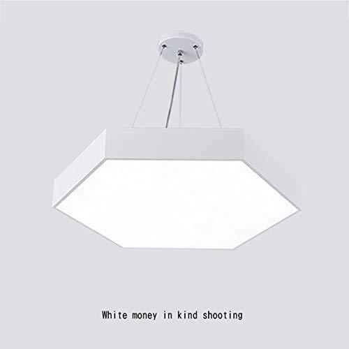 HTL Lámpara Hexagonal Led Moderna, Luces de Dormitorio Cálido Luces de Restaurante Creative Luces de Araña Luces de Sala de Estar Iluminación Interior