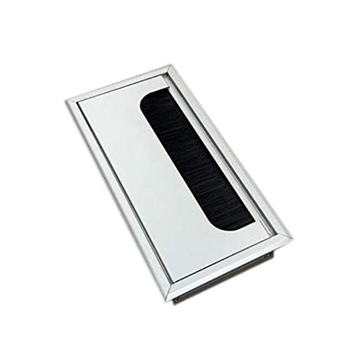 BE YOU TIFUL Passacavo, Alluminio Quadrato Rettangolo scrivania del Computer del Cavo di Legare di Uscita Inserire Hole Copertura Tavolo Grommet - - 160MM