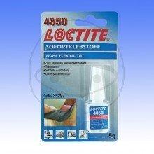 SOFORTKLEBSTOFF FLEX 4850 5 GR. - 557.43.48 - LOCTITE®, Sofortkleber 4850 Flexibler Sofortklebstoff, mittlere Viskosität, transparent. -