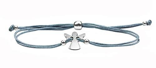 Milosa SchmuckDesigns Schutzengel Armband für Mädchen mit Engel zur Konfirmation, Firmung, Kommunion, Glücksengel Geschenk (größenverstellbar)