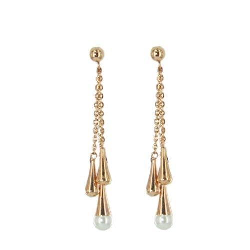 Skagen Damen Ohrringe Perle rose-gold JESR032