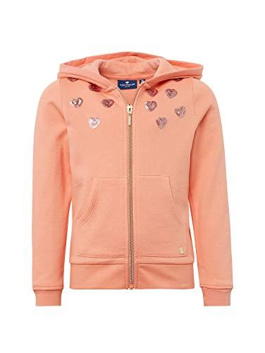 TOM TAILOR Kids Mädchen Sweatjacket Placed Print Sweatjacke, Rosa (Peach Amber|Rose 2232), 104 (Herstellergröße: 104/110)