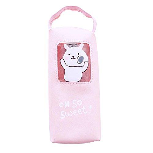 Vi.yo durable sac cosmétique crayon sac papeterie sac de rangement avec de beaux motifs de bande dessinée pour femmes dames (style 1)