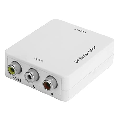 Convertidor de audio y video, 1080p Ntsc Pal Dos formatos de TV estándar Convertidor de HDMI a AV 1.3 Interfaz multimedia de alta definición Bajo consumo de energía Convertidor de interfaz AV(blanco)