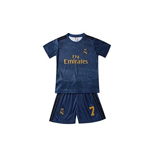PAOFU-Real Madrid Club Eden Hazard # 7 Trikot Für Jungen Fan Fußball Jersey,Blau,24