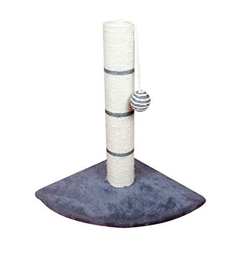 SAHZ Eck-Kratzbaum für Katzen, Sisal, dreieckiger Boden, Klettergerüst für Katzen, Premium-Qualität, Plüsch-Unterlage und Schlichtes Design