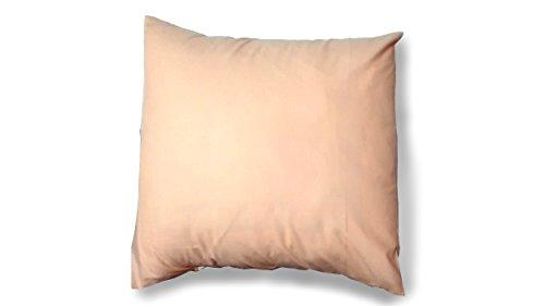 ES-TELA - Funda de cojín COMBI LISOS color Salmon - Medidas 40x40 cm. - 50% Algodón-50% Poliéster - 144 Hilos