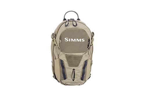 Simms Freestone Ambidextrous Tactical Fishing Sling Pack, Water Resistant Bag, Tan