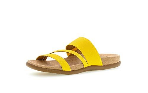 Gabor Shoes 03.702_Gabor - Sandalias para mujer, color Amarillo, talla 43 EU